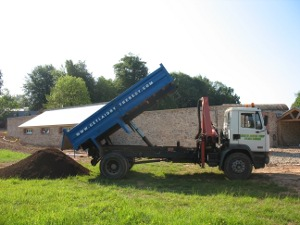 Delivery of loam topsoil